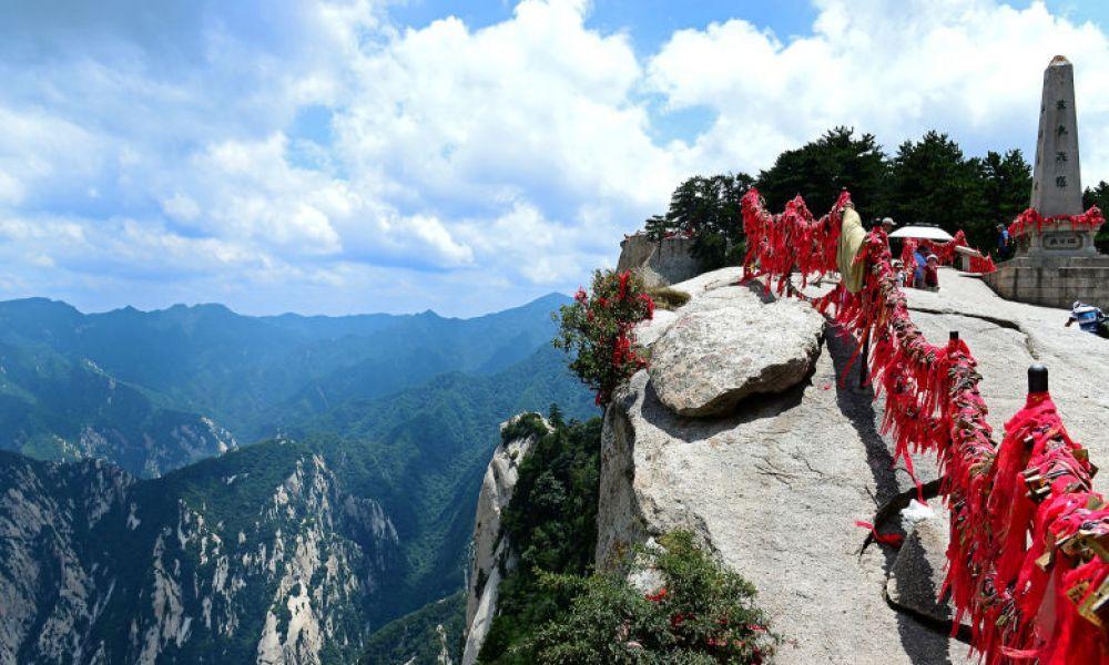 Vue depuis la montagne Huashan