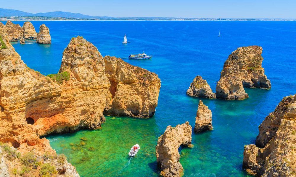 Paysages de la région portugaise de l'Algarve