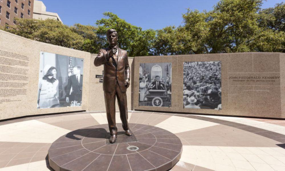 La statue de Kennedy à Fort Worth