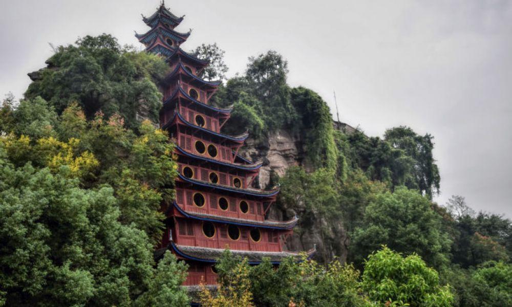 La pagode Shibaozhai