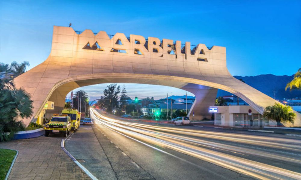 L'entrée à Marbella