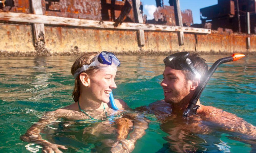 Snorkeling près de Tangalooma Wrecks