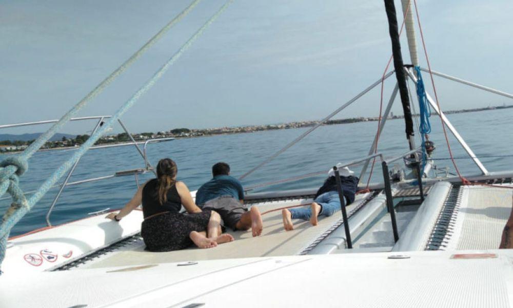 Vue sur le catamaran