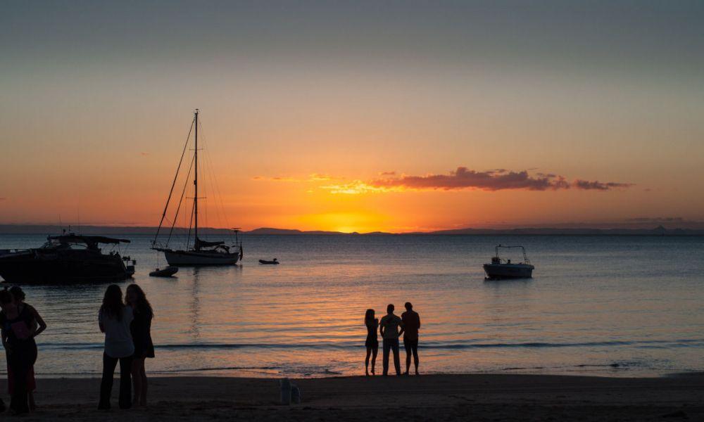 Coucher de soleil à Moreton Island