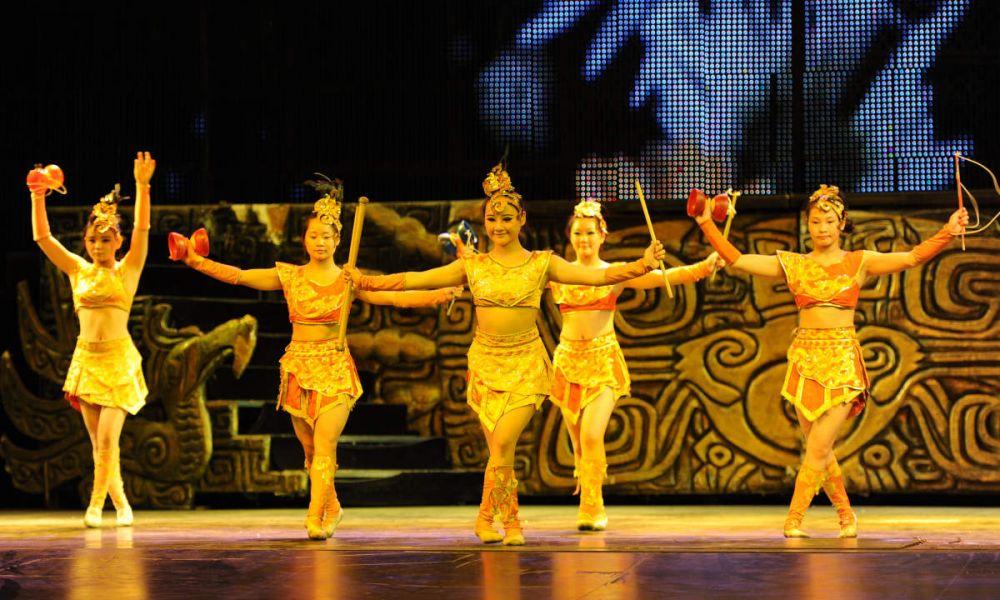 Un groupe acrobatique chinois