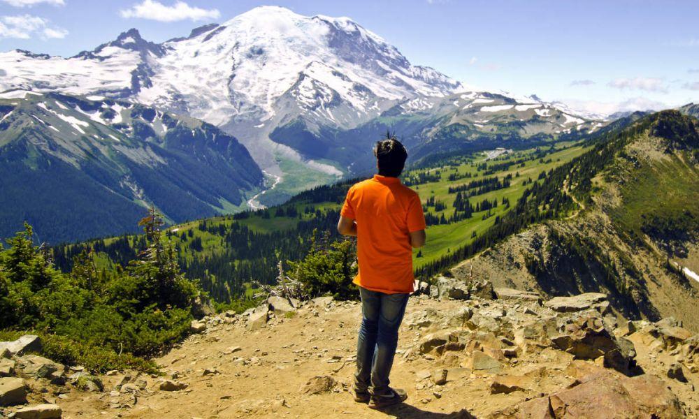 Profitez de la vue sur le Mont Rainier