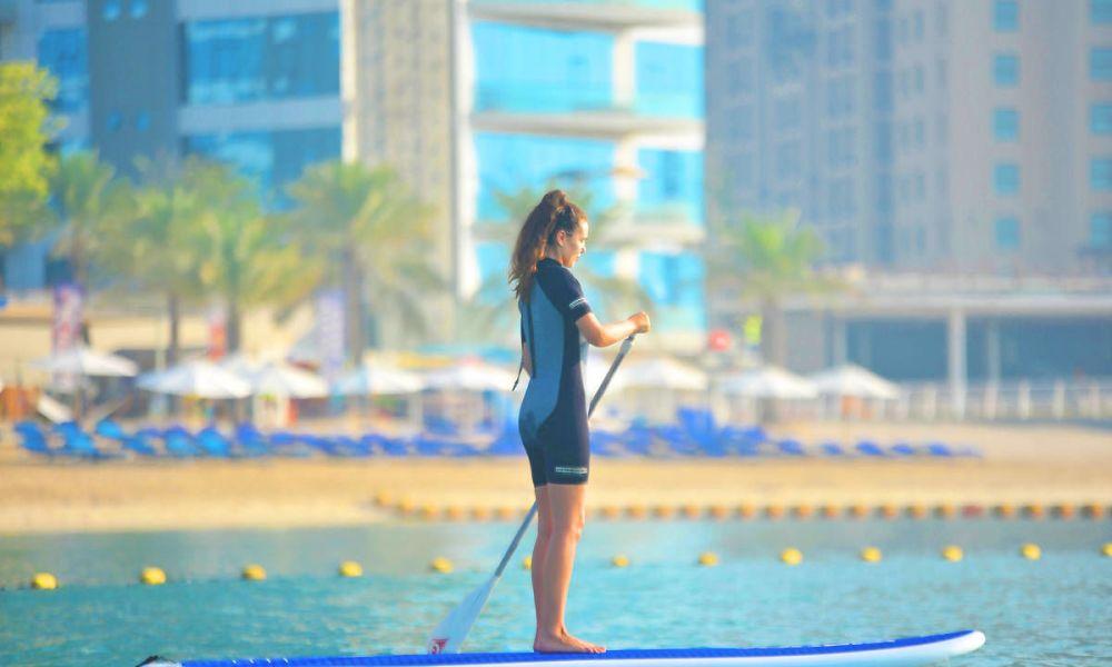Paddle à Marina Beach