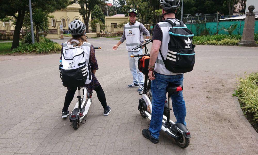 Balade en trottinette électrique à Quito